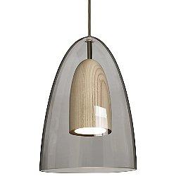 Dano LED Mini Pendant (Smoke & Natural/Bronze) - OPEN BOX