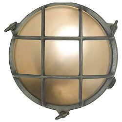 Brass Bulkhead Outdoor Wall Light