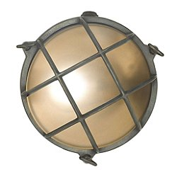Brass Bulkhead Outdoor Wall Sconce (Small) - OPEN BOX RETURN