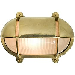 Oval Bulkhead Outdoor Wall Sconce w/ Eyelid Shield- OPEN BOX