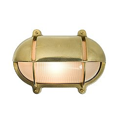 Oval Bulkhead Eyelid Outdoor Wall Light