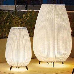 Amphora Floor Lamp (Beige/Small/ETL/Fluorescent)-OPEN BOX