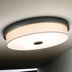 Rondo Ceiling Light (White Cotton/Graphite Grey/Fluorescent) - OPEN BOX RETURN