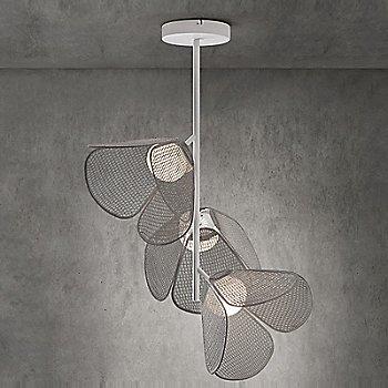 White/Grey Crochet, 3 light, illuminated