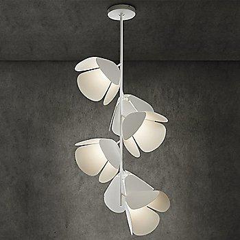 White/Perforated White, 6 light, illuminated