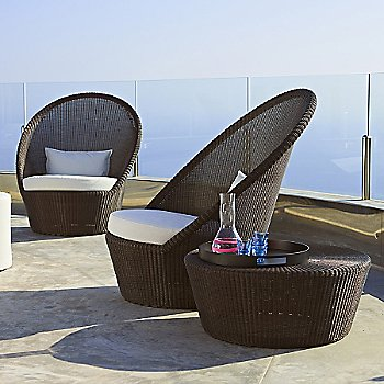 Kingston Large Footstool with Kingston Sunchair with Wheels
