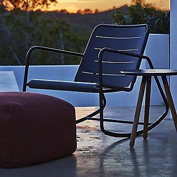 Copenhagen Rocking Chair with Area Tablestool