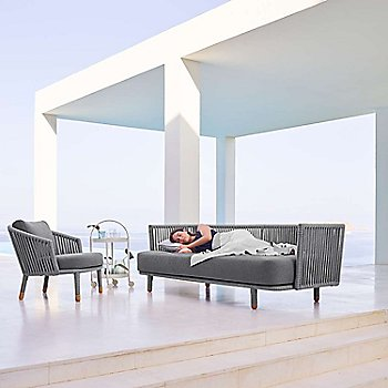 Pictured with the Moments Lounge Chair and the Roll Trolley (sold separately)