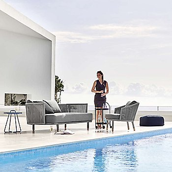 Pictured with the Moments Lounge Chair, On The Move Side Table, and the Roll Trolley (sold separately)
