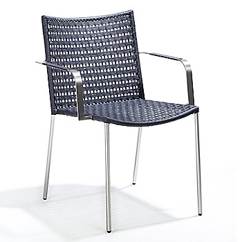 Straw Flat Weave Dining Chair with Arms