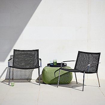 Black pictured with the Round Club Tray and Divine Footstool (sold separately)