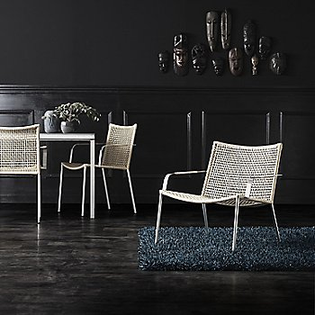 Natural pictured with the Straw Round Weave Dining Chair and Pure Square Table (sold separately)