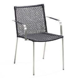 Straw Round Weave Dining Chair with Arms