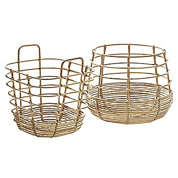 Pictured with the Sweep Rattan Basket (sold separately)