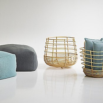 Pictured with the Sweep Rattan Basket and the Divine Footstools (sold separately)