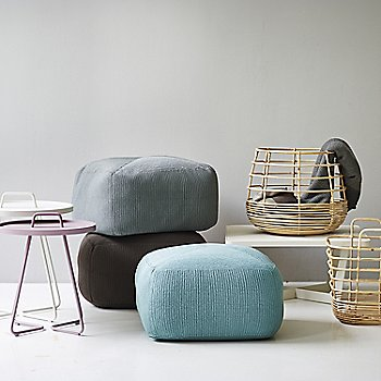 Pictured with the Sweep Rattan Basket, Divine Footstools and On the Move Side Tables (sold separately)