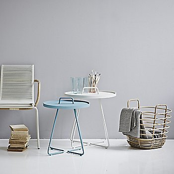 Pictured with the Sidd Chair with Arms and On the Move Side Tables (sold separately)