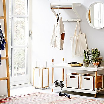 White pictured with the Copenhagen City Rack, Frame Shelving System, Round Club Tray and Climb Ladder (sold separately)