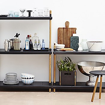 Lava Gray pictured with the Frame Shelving System and Area Tablestool (sold separately)