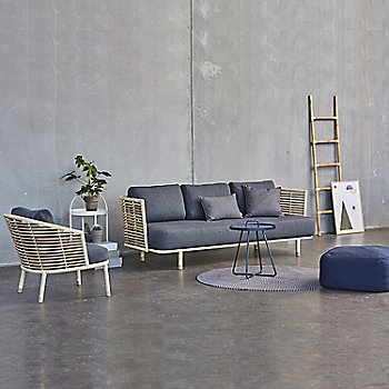 Pictured with the Sense 3 Seater Sofa, On The Move Side Table, and the Sweep Rattan Basket (sold separately)