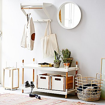 White pictured with the Frame Shelving System, Box Storage Box, Round Club Tray and Sweep Rattan Basket (sold separately)