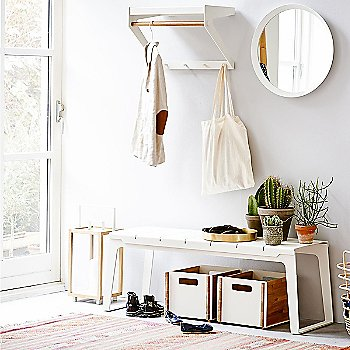 White pictured with Box Storage Box, Round Club Tray and Sweep Rattan Basket (sold separately)