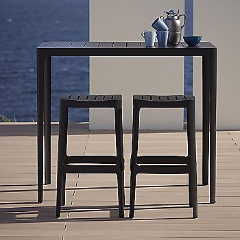 Black pictured with the Cut Bar Chairs (sold separately)