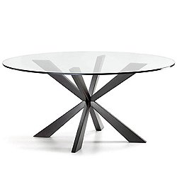 Spyder Round Dining Table, 63-Inch