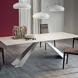 Eliot Marble Dining Table, 80-Inch