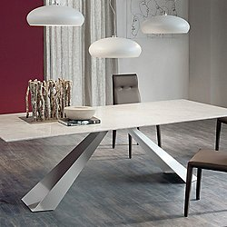 Eliot Marble Dining Table, 95-Inch