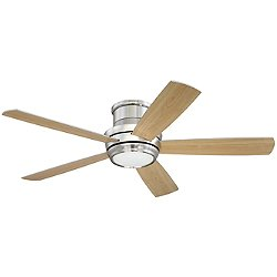 Tempo Hugger LED Ceiling Fan (Nickel/52)-OPEN BOX