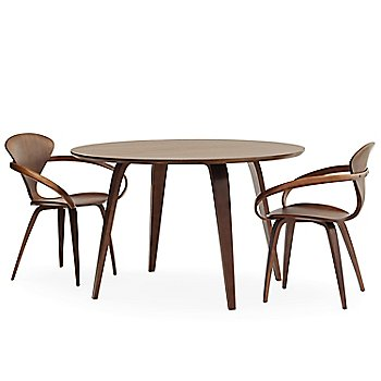 Classic Walnut finish / with Cherner Round Table