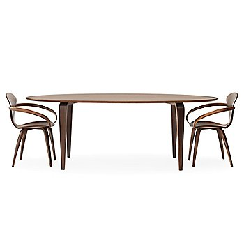 Classic Walnut finish / with Cherner Oval Table