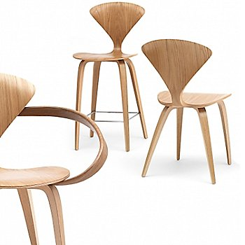White Oak Cut finish, Cherner chairs / Detail view
