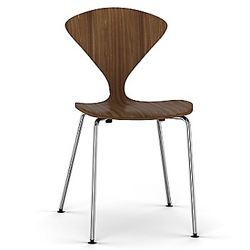 Natural Walnut Seat, Chrome Base option