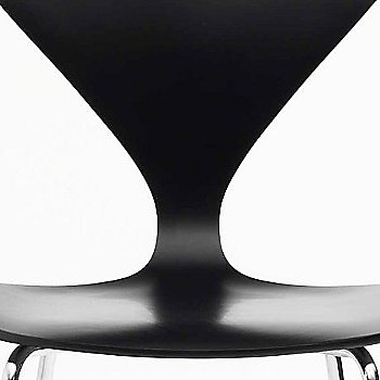 Ebony Lacquer Seat, Chrome Base option / Detail view