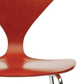 Stella Orange Seat, Chrome Base option / Detail view