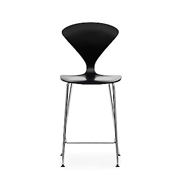 Ebony Lacquer Seat, Chrome Base