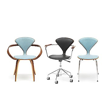Cherner One Piece Upholstered Armchair