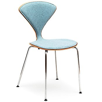 Cherner One Piece Upholstered Metal Base Chair / Angle view