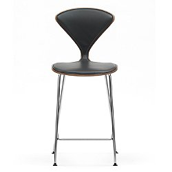 Cherner One Piece Upholstered Metal Base Stool