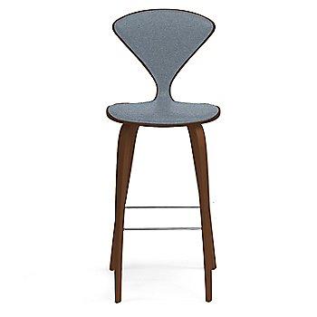 Natural Walnut Seat, Chrome Base finish / Upholstery Selection Divina 154