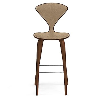 Natural Walnut Seat, Chrome Base finish / Upholstery Selection Divina 334