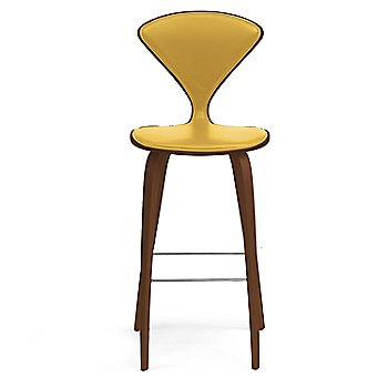 Natural Walnut Seat, Chrome Base finish / Upholstery Selection Divina 444