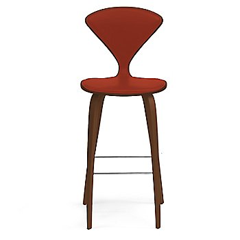 Natural Walnut Seat, Chrome Base finish / Upholstery Selection Divina 584