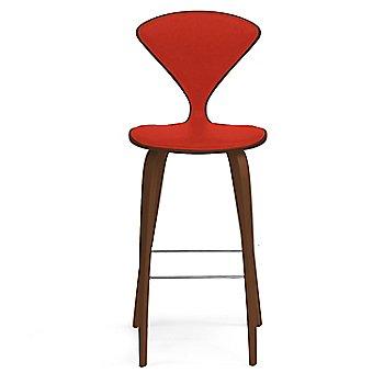 Natural Walnut Seat, Chrome Base finish / Upholstery Selection Divina 623