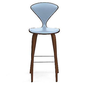 Natural Walnut Seat, Chrome Base finish / Upholstery Selection Divina 712
