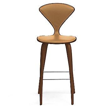 Natural Walnut Seat, Chrome Base finish / Upholstery Selection Vincenza Leather VZ-2125
