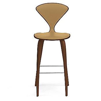 Natural Walnut Seat, Chrome Base finish / Upholstery Selection Vincenza Leather VZ-2111
