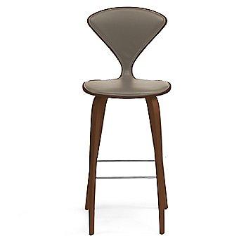 Natural Walnut Seat, Chrome Base finish / Upholstery Selection Vincenza Leather VZ-2101